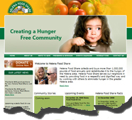Integrated a real time ecommerce donation system into a custom web site designed for Helena Food Share.  This site uses our EZ Web technology for easy day-to-day updates.  The donation system allows them to collect credit card donations in real time.
